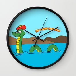 Nesie (Loch Ness Monster) Wall Clock