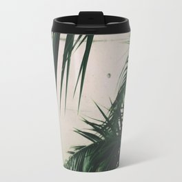 Tropical Palm Leaves Travel Mug