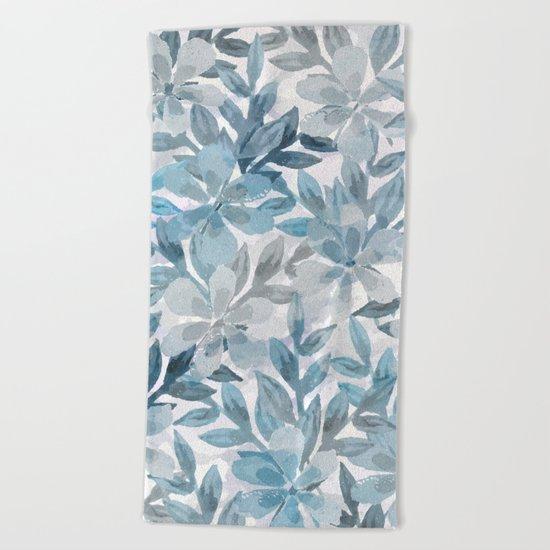 watercolor Botanical garden II Beach Towel
