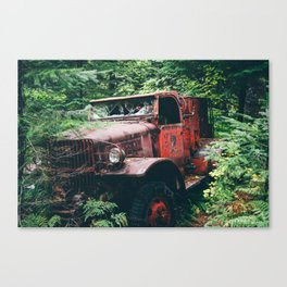 Abandoned Truck in the Woods Canvas Print
