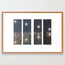 Little Moon – Moonset Framed Art Print