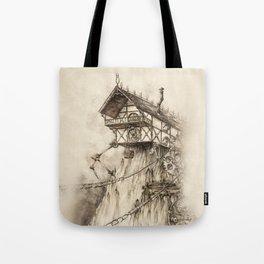 Steampunk House Tote Bag