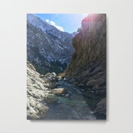 Wasatch Waterfall Metal Print