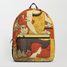 Vintage American art nouveau Bicycles ad Backpack