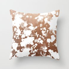 Rose Gold shiny metal sparkle modern pattern abstract rosegold trendy pattern cell phone accessories Throw Pillow
