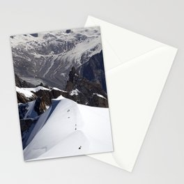 Team of mountaineers Stationery Cards