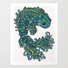 Swish Fish Art Print