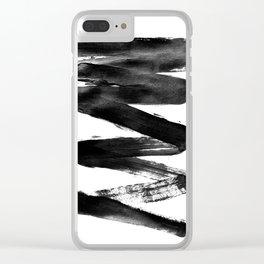 Black Lightning Clear iPhone Case