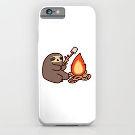 Campfire Sloth iPhone Case