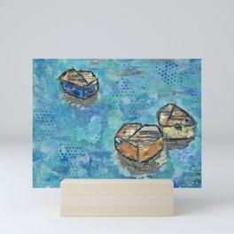 Norwegian Fishing Boats Mini Art Print