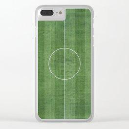 Soccer Field, Football Field, Green Grass Football Field Background Clear iPhone Case