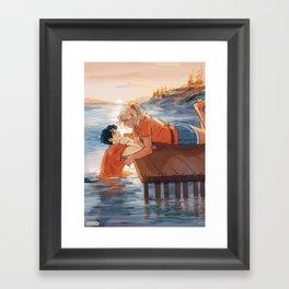 at the shore Framed Art Print