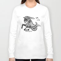 capricorn Long Sleeve T-shirts featuring Capricorn by Anna Shell