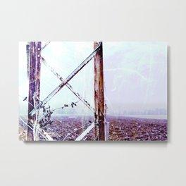 Rusty Pylon Metal Print