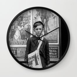 12 Year Old Newsie - Wilmington - 1910 Wall Clock