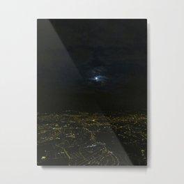 Moon Over London Metal Print