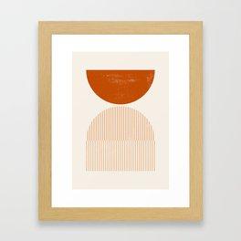 Mid century modern, mid-century wall art, print, geometric wall art, abstract wall art, interior, ma Framed Art Print