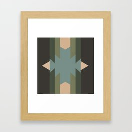 Green Star  - does it belong in the Forest or in the Space?? Framed Art Print