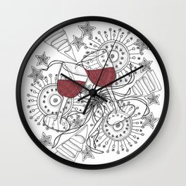 Zentangle Celebrate Everything Wall Clock