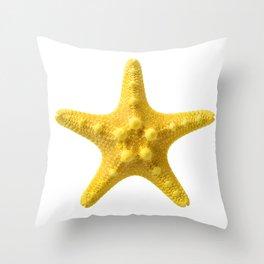Yellow starfish Throw Pillow