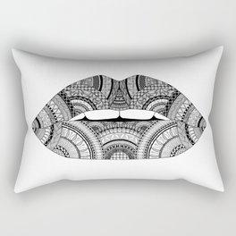 Lips Zendoodle Rectangular Pillow