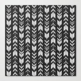 fletching arrow - charcoal Canvas Print
