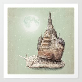 The Snail's Dream Art Print