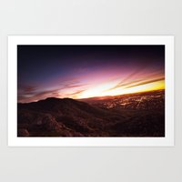 SUNSET OVER MY CITY Art Print