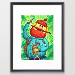 Yukon's Gold Framed Art Print