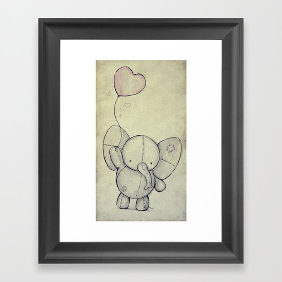 Cute Elephant II Framed Art Print
