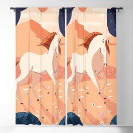 Wildlife 009 Horse Blackout Curtain