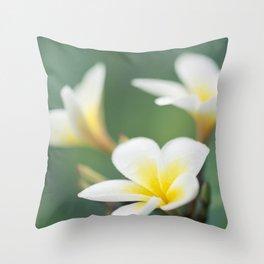 in the happy garden Throw Pillow