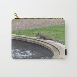 squirrel at fountain Carry-All Pouch