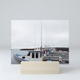 Lobster Boat Line-up Mini Art Print