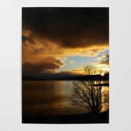 Sunset in Scotland Poster