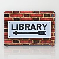library iPad Cases featuring Library by Biff Rendar