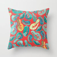 fig Throw Pillows featuring Fiddle Fig by Allison Holdridge