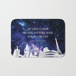 The world is a book Bath Mat