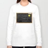 bible Long Sleeve T-shirts featuring Bible School Lesson #1 by serloren