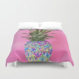 Tropical Painted Pineapple Duvet Cover