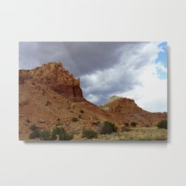 Buttes of New Mexico - On the Road to Santa Fe, No. 8 Metal Print