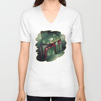 boba fett V-neck T-shirts featuring Boba Fett by Cargorabbit