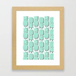 Pastel Pineapple Framed Art Print