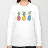 pineapples Long Sleeve T-shirts featuring Pineapples by Cat Coquillette
