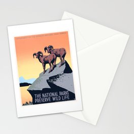 1936 The National Parks Preserve Wild Life Poster Stationery Cards