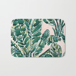 BIG FEELINGS Banana Leaf Tropical Bath Mat