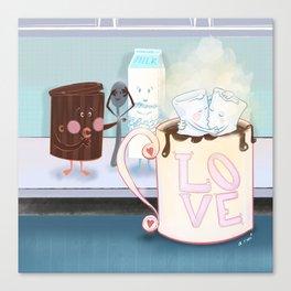 Mallow love Canvas Print