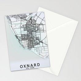 Oxnard CA USA White City Map Stationery Cards
