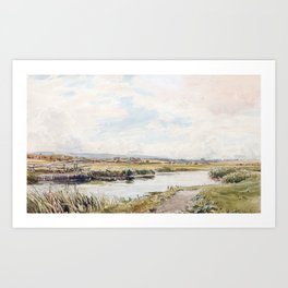 Thomas Collier (1840-1891)  On the Rother Art Print