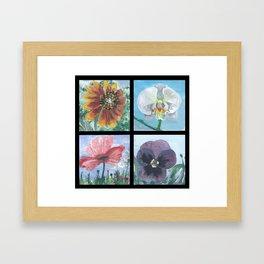Flower Compilation Framed Art Print